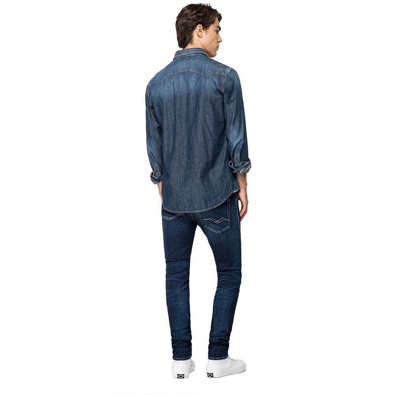 Camisa-Para-Hombre-7-Oz-Deep-Blue-Denim-Replay123