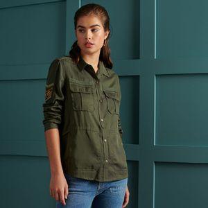 Military Pocket Shirt para mujer Superdry