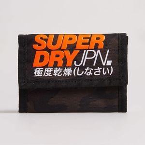 Billetera Pequeña Para Hombre T Camo Velcro Wallet Superdry