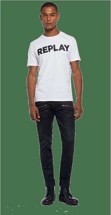 Camiseta-Para-Hombre-T-Shirt-Blanco-M-Replay1426