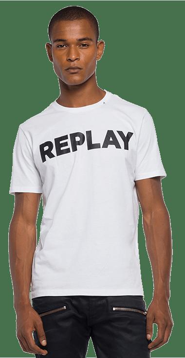Camiseta-Para-Hombre-T-Shirt-Blanco-M-Replay1429