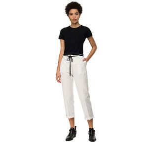 Garment Dyed Cotton Linen Twill para mujer Replay