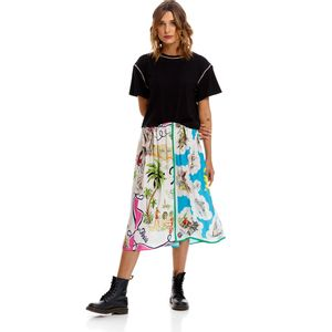 Mix All Over Print Foulard Viscose Twill para mujer Replay