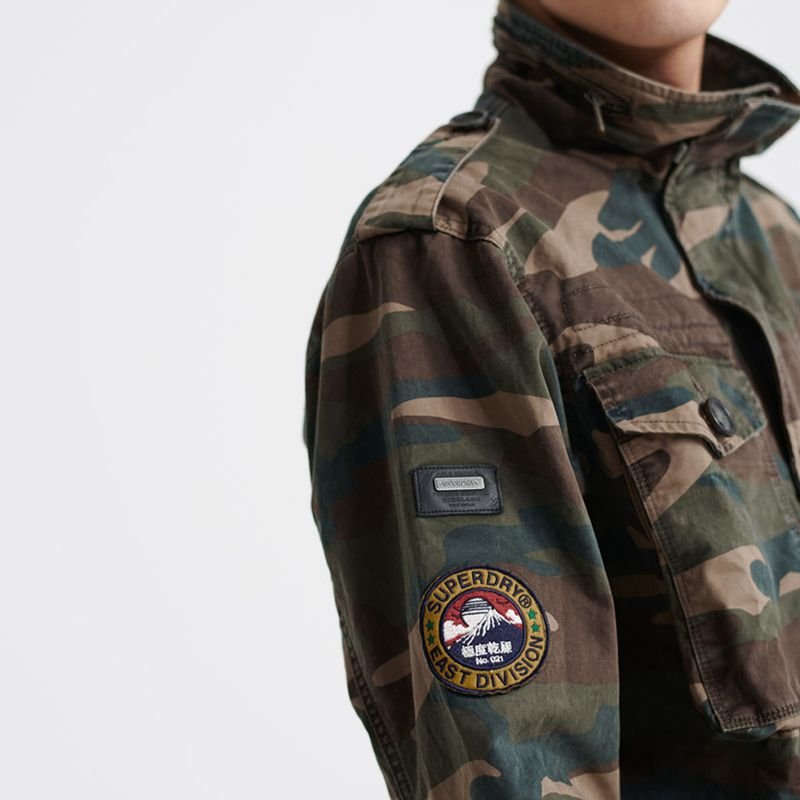 Chaqueta-Casual-Para-Hombre-Patched-Field-Jacket-Superdry