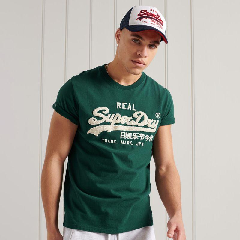Camiseta-Para-Hombre-Vl-Chenille-Tee-185-Superdry