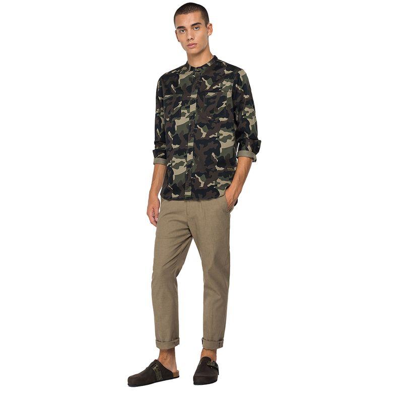Camisa-Para-Hombre-Camo-Printed-Twill-Replay
