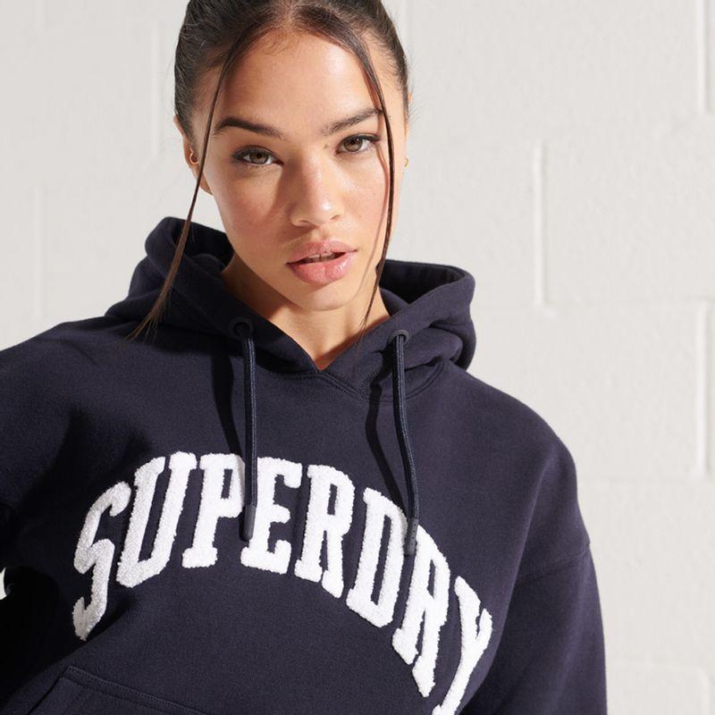 Buzo-Hoodie-Cerrado-Para-Mujer-Varsity-Arch-Mono-Hood-Superdry