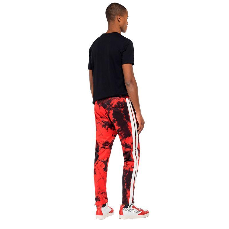 Sudadera-Para-Hombre-All-Over-Tie-Dye-Print-Tech-Fleece-Replay
