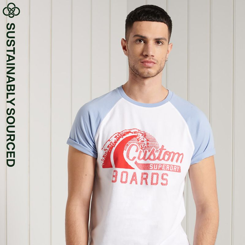 Camiseta-Para-Hombre-Cali-Surf-Graphic-Baseball-Tee-Superdry