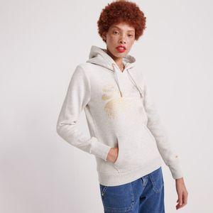 Buzo Hoodie Cerrado Para Mujer Vintage Logo Metallic Cascade Entry Hood Superdry 25698