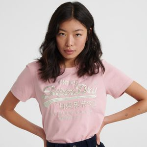 Camiseta  Para Mujer Premium Goods Luxe Emb Entry Tee Superdry 28551
