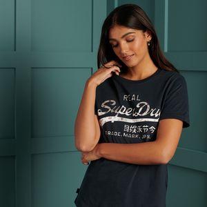 Camiseta  Para Mujer Vl Infill Tee Superdry 32408