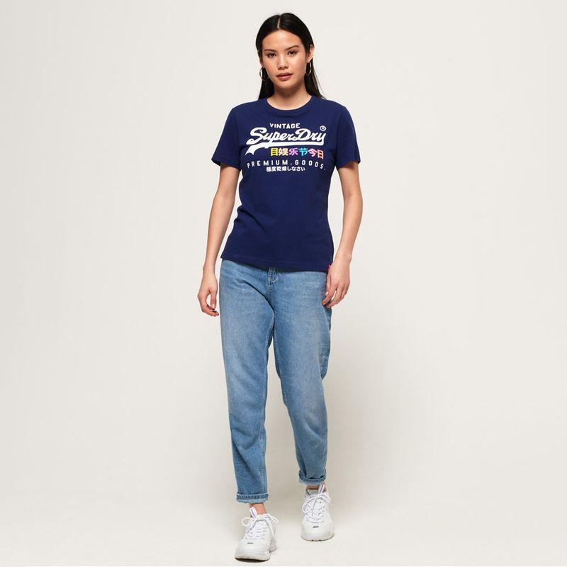 Camiseta-Para-Mujer-Premium-Goods-Puff-Entry-Tee-Superdry