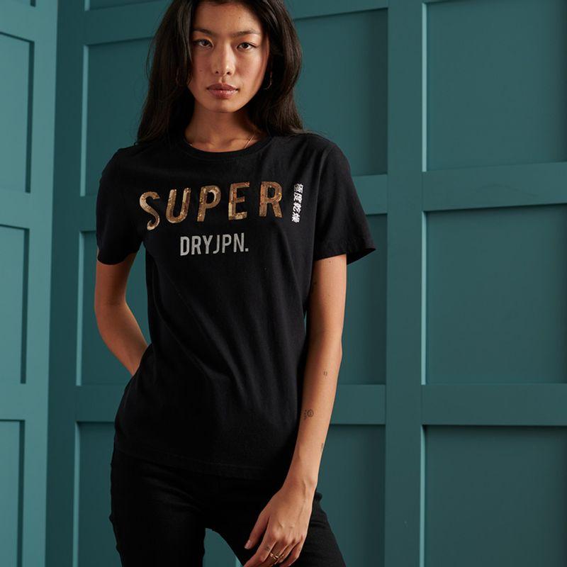 Camiseta-Para-Mujer-Super-Jpn-Sequin-Tee-Superdry