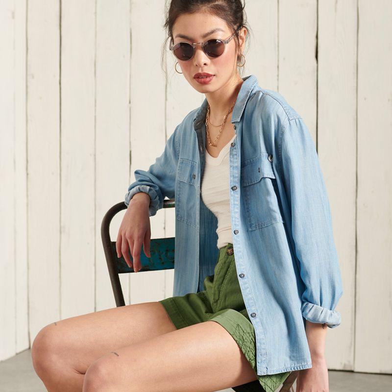 Camisa-Para-Mujer-Ls-Textured-Shirt-Superdry